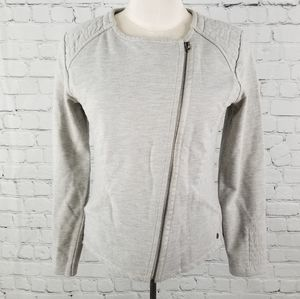 GARCIA JEANS   gray cotton blend moto jacket